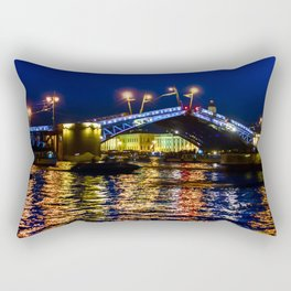 Raising bridges in St. Petersburg Rectangular Pillow