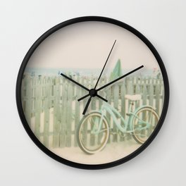 Beach Cruiser Bicycle Wall Clock
