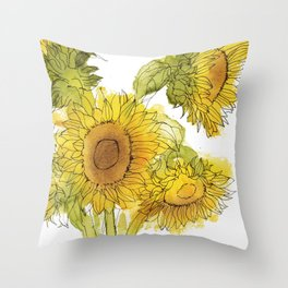 Light of the World - Sunflowers Throw Pillow