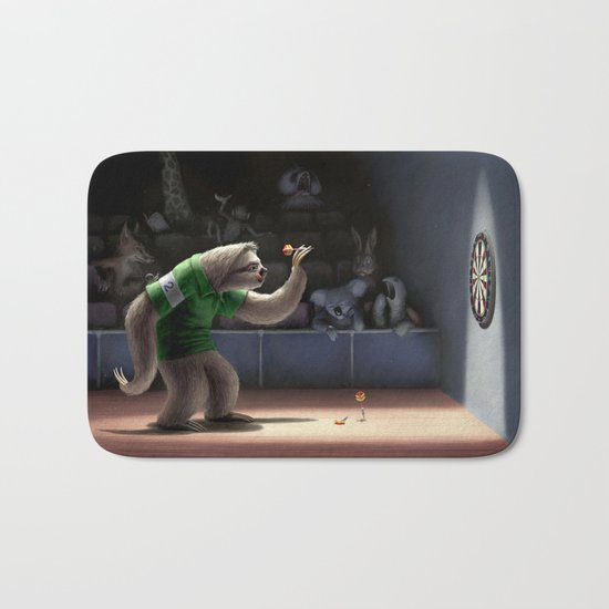 Sloth Darts Bath Mat