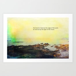 At the Edge of the Sea Art Print