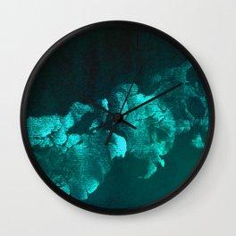 abstraction green Wall Clock