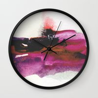 georgiana paraschiv Wall Clocks featuring Unravel by Georgiana Paraschiv