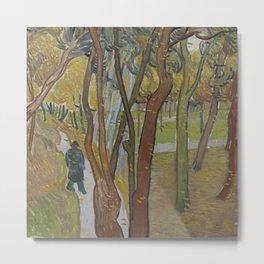 Vincent van Gogh - The Garden of Saint Paul's Hospital ('Leaf-Fall') (1889) Metal Print