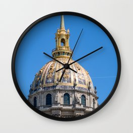 Hotel des Invalides dome in Paris Wall Clock