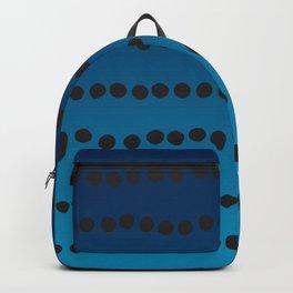 Ombre Blue Hawaii Ocean Gradient Duotone Spots Black Dots Backpack