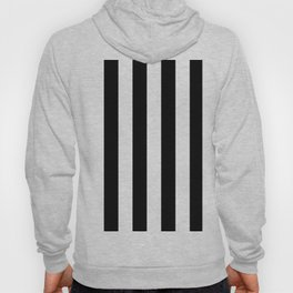 Black & White Vertical Stripes - Mix & Match with Simplicity of Life Hoody