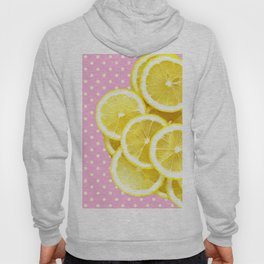 Candy Pink and Lemon Polka Dots Hoody