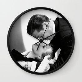 Clark Gable and Joan Crawford, Hollywood portrait black and white photograph / black and white photography Wall Clock