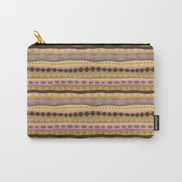 Stripey-Earthy Colors Carry-All Pouch