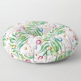 Glamorous Palm white Floor Pillow