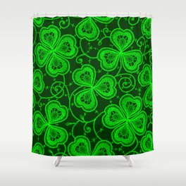 Clover Lace Pattern Shower Curtain