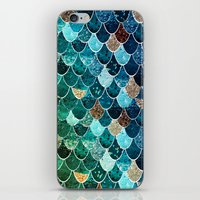 tiffany iPhone & iPod Skins featuring REALLY MERMAID TIFFANY by Monika Strigel