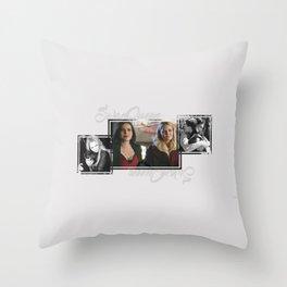Swan-Mills Family Throw Pillow