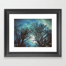 Winter sky Framed Art Print