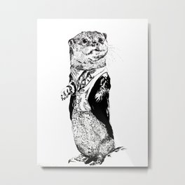 Sir Otter Metal Print