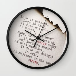 Beautiful Love Quote Wall Clock