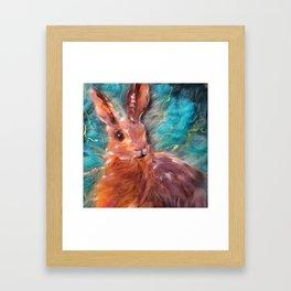 Hare I am Framed Art Print