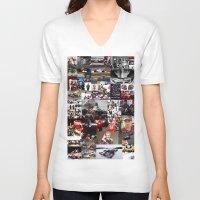 formula 1 V-neck T-shirts featuring Formula 1 Collage by Rassva