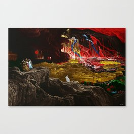 The Destruction of Sodom and Gomorrah Landscape Painting by Jeanpaul Ferro Canvas Print