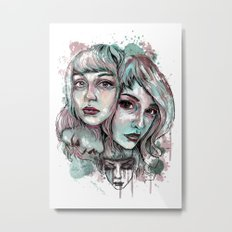 Faces and Color Metal Print