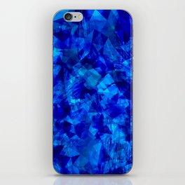 Cobalt Facets iPhone Skin