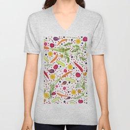 Fruits and vegetables pattern (21) Unisex V-Neck