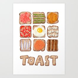 Breakfast Toast Art Print