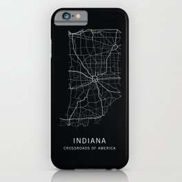 Indiana State Road Map iPhone Case