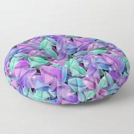 Placer precious stones Black background . Diamonds . Floor Pillow