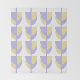Tulips In Spring Time - Lavender and Lemon Throw Blanket