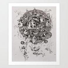 Free flight Art Print