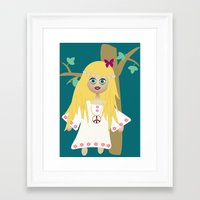 hippie Framed Art Prints featuring Hippie by lescapricesdefilles