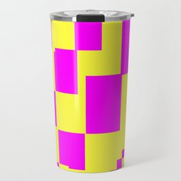 Egg Yellow-Fuchsia City Scapes Abstract Travel Mug