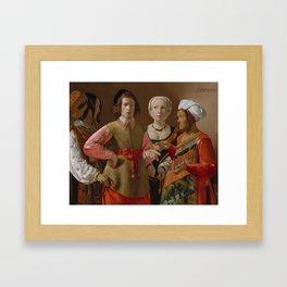 The Fortune Teller by Georges de La Tour Framed Art Print
