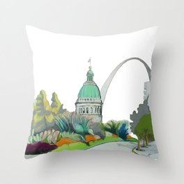 St. Louis cityscape 1 Throw Pillow