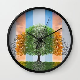 The seasons of the year in a tree Wall Clock