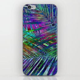 Multicolor Palm Leaves 2 iPhone Skin