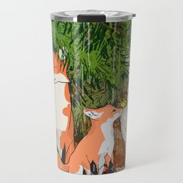 The red fox, the baby fox, the Hare and the baby hare Travel Mug