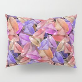 Placer precious stones gems . Pillow Sham