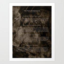 The Four Agreements 2 Art Print
