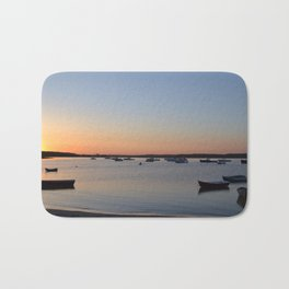 Brine & Boats • Sunset at Peaceful Pine Point Bath Mat