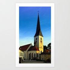 The village church of Zwettl a.d. Rodl | architectural photography Art Print