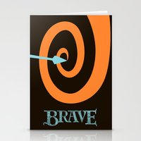brave Stationery Cards featuring Brave by Citron Vert