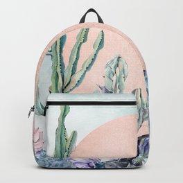 Desert Sun + Gemstones Bronze Turquoise Watercolor Backpack