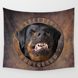 Executive bodyguard Angry rottweiler Wall Tapestry