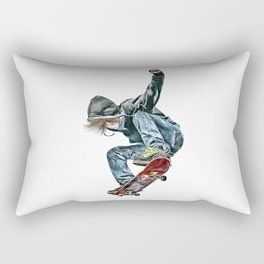 Skateboarder Rectangular Pillow