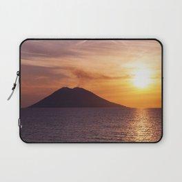 Stromboli Volcano, Italy - Mediterranean Sunset Laptop Sleeve