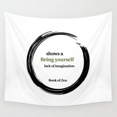 Zen Identity & Imagination Quote Wall Tapestry