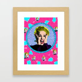 Showgirls - Nomi Malone Stained Glass - EXCITED Framed Art Print